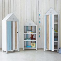 Child's beach hut bookcase OCEAN