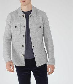 Lyon Grey Pocketed Overshirt - REISS