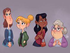 Ladies by LuigiL on DeviantArt