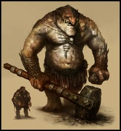 Mountain Troll Picture  (2d, fantasy, monster, troll, beast, warrior)