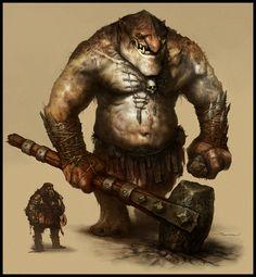 Mountain Troll Picture (2d, fantasy, monster, troll, beast, warrior)
