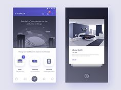 concur app redesign concept ((Homescreen + pop over))