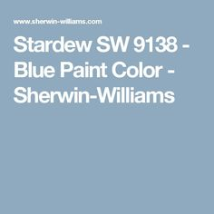 Stardew SW 9138 - Blue Paint Color - Sherwin-Williams