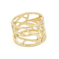 Fashion Wide Hollow Carve Shield Rings For Men And Women