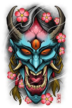 Tattoos And Body Art japanese tattoo designs Oni Tattoo, Hannya Maske Tattoo, Hanya Tattoo, Samurai Tattoo, Japanese Mask Tattoo, Japanese Tattoo Designs, Japanese Sleeve Tattoos, Full Sleeve Tattoos, Japan Tattoo Design
