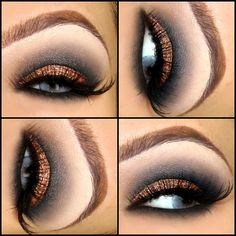 Gorge look.....Bronze lid with charcoal gray crease. Loving it!
