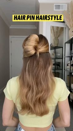 Classy Hairstyles, Diy Hairstyles, Pretty Hairstyles, Hairstyle Tutorials, Hairdos, Long Curly Hair, Long Hair Dos, Medium Hair Styles, Curly Hair Styles
