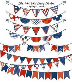 Fourth Of July Crafts For Kids, Fourth Of July Decor, 4th Of July, Scrapbooking Digital, Digital Papers, 4 July Usa, World Thinking Day, Patriotic Decorations, Bunting