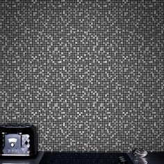 Aurora Tile Black and Silver