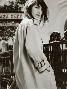 Image result for charlotte gainsbourg trench coat