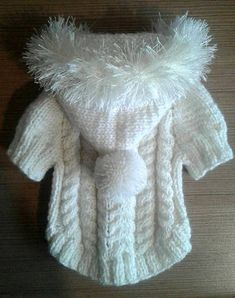 Puppy clothes Sweater for dogs Dog dress Clothes for small dogs on order Dress for dogs Chihuahua clothing York clothes Hoodies for dog size XXXS - XXS - XS - S - M - L - XL The sweater is knitted from semi woolen yarn ( Wool + bamboo + acrylic). Yarn is soft, for children. A