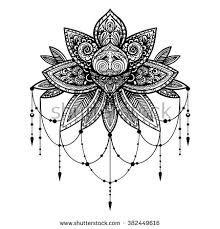 Résultats de recherche d'images pour «lace lotus tattoo black and white»