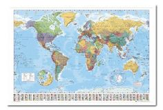 Pin spy locations macs room ideas pinterest flag pins world map poster with country flags white framed 965 x 66 cms approx 38 gumiabroncs Image collections