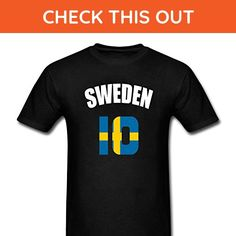ZLJUN Men's Sweden Flag Swede Soccer Football T-Shirt - Sports shirts (*Amazon Partner-Link)