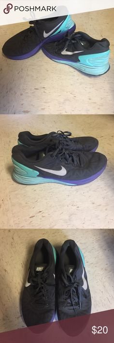Nike Lunarglide 6 Nike Lunarglides in very good condition. A little dirty but can be cleaned. Not many miles put on the shoes. Size 9 Nike Shoes Athletic Shoes
