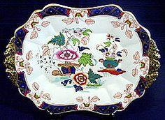 "JOHN RIDGWAY, ""IMP. STONE CHINA"" IMARI SOUP TUREEN PLATTER, C. 1835 Royal Crown Derby, Antique Stores, Serving Dishes, Platter, Decorative Accessories, The Past, Porcelain, China, Ceramics"