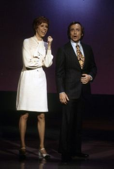 Carol Burnett and Dick Cavett
