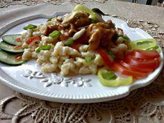 Pasta Salad, Chicken, Meat, Ethnic Recipes, Food, Red Peppers, Crab Pasta Salad, Essen, Meals
