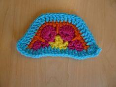 African Flower Hexagon half-hexagon tutorial: http://www.crochetbug.com/the-morning-after/
