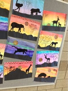 Art at Becker Middle School: Silhouettes of the Serengeti