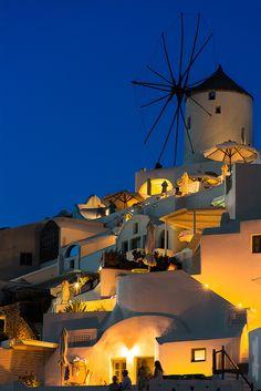 Oia Windmill at Dusk, Santorini