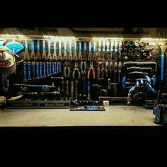 Pin by Vsevolod Volgin on garage Garage Tools, Garage Shop, Garage House, Garage Workshop Organization, Garage Storage, Garage Atelier, Bike Store, Bicycle Shop, Bike Room