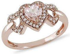Heart Shaped Engagement Ring. Follow us @SIGNATUREBRIDE on Twitter and on FACEBOOK @ SIGNATURE BRIDE MAGAZINE