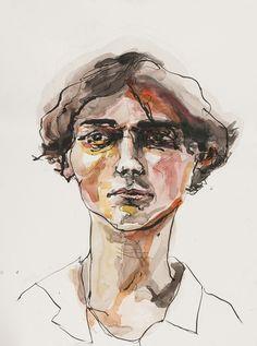 Untitled project - yvonne lin ink watercolor portrait