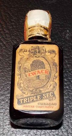 Empty Miniature Zwack Triple Sec Curacao Whiskey Bottle Hungary Tax Stamp | eBay