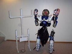 hockey gear drying rack - wonder where one would find an electric fan to make this....?