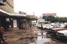 Nairobi's Westlands Arcade in 1990. This is near the famous Westlands bus stage.