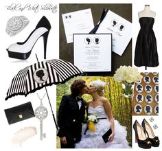Black and white wedding silhouette Inspiration #black #white #wedding