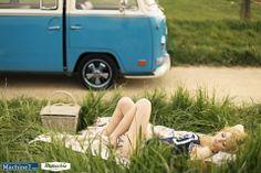 VW Camper van bus picnic