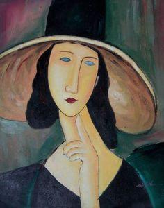 Jeanne Hebuterne painted by Amedeo Modigliani