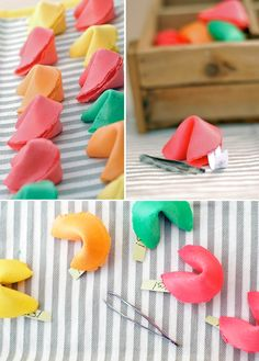 fortune cookie party favours - great idea