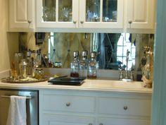 harlequin mirror backsplash