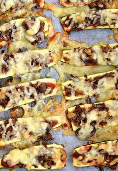 Cheesy Beef and Mushroom Zucchini Boats