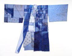 Chunghie Lee, Blue Durumagi, in Bojagi and Beyond, on view at Fuller Craft Museum, Brockton, MA, October 6, 2013 - January 26, 2014.