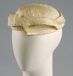 Hat | Madame Lucienne for Caroline Reboux (French, 1835-1927) | Date: ca. 1955 | Material: straw | The Metropolitan Museum of Art, New York