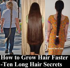 How to Grow Hair Faster - Ten Long Hair Secrets | Nutriclue