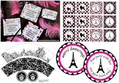 Free Printables for your Paris Party.