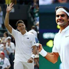 Wimbledon | @MilosRaonic se agrandó y venció a Roger Federer en 5 infartantes sets por 6-36-74-67-56-3  y paso a la final  #Tennis #Deportes #Sports #Wimbledon