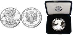 2013 Gem Proof Silver Eagle - Ready to Ship! -  MintProducts.com Silver Eagle Coins, Silver Eagles, Eagle Design, United States Mint, In God We Trust, Half Dollar, Silver Dollar, Gems, Notes