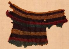Naalbinding fragment, probably from a sock, from Antioë Egypt in 7th C.