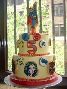 """super"" cool cake from @One Tough Cookie, Inc !"