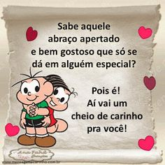 MENSAGENS DE CARINHO: Cheio de carinho Amor Minions, Miss You Images, Tumblr Love, Snoopy Love, Friendship Cards, Quote Posters, Love You, Pasta, Thoughts