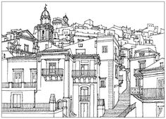 This gallery is certainly a little less  natural  than our  Flowers and vegetation ,  Insects and Animals  galleries ... But these coloring pages related to architecture will provide you a Zen and Relaxing moment.  Ancient or modern, dreamed or futuristic, the architectures that we present have been selected for their richness in detail, their harmony, their connection with nature, but also for ... their complexity! For sure, it is a adult coloring website!  Here is our selection of images…