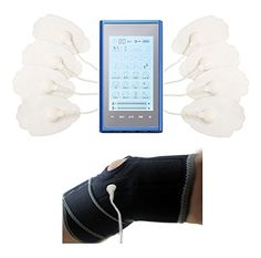 24 Modes Mini Body Handheld Muscle Soreness Relief Pulse Massager TOUCH SCREEN   Thigh Brace Support For Leg Cramps Accelerate Recovery Circulation Leg   Leg Calves Massager Sciatica Support To Relieve Bone Pain Thigh Bruise Swelling Leg Vein Shin Splints   Best Pro Pain Relief Digital Pulse Massager (Blue in Silver) LIFETIME WARRANTY! FDA cleared HealthmateForever T24AB2 *** For more information, visit image link.