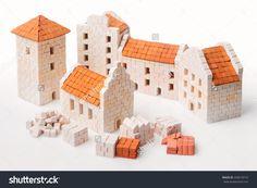 Teifoc castle teifoc brick mortar sets pinterest for Mud brick kit homes