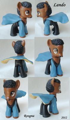 Custom My Little Pony Lando Calrissian Star Wars. $130.00, via Etsy...worth it??